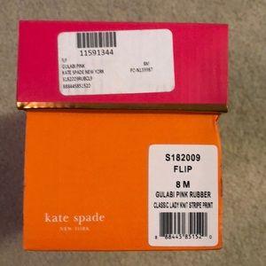 d1b923f33 kate spade Shoes - NIB Kate Spade Pink Black White Stripe Flip Flop 8